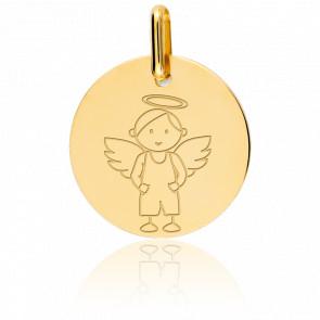 Médaille My Angel Garçon Or Jaune 18K - Lucas Lucor