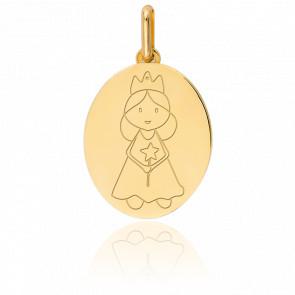 Médaille Ma Princesse Or Jaune