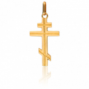 Croix Orthodoxe 15 x 23 mm Or Jaune 18K