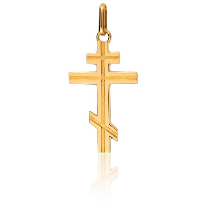croix orthodoxe 15x23mm en or jaune 9k lucas lucor ocarat. Black Bedroom Furniture Sets. Home Design Ideas