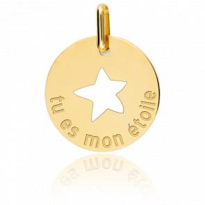 Médaille Mon Etoile Or Jaune