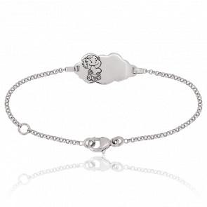 Bracelet Nuage Câline Or Blanc 18K