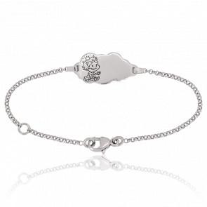 Bracelet Nuage Curieuse Or Blanc 18K