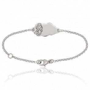 Bracelet Nuage Maline Or Blanc 18K