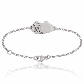 Bracelet Nuage Précieuse Or Blanc 18K