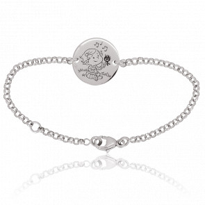 Bracelet Câline Nature Or Blanc 18K