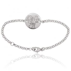 Bracelet Curieuse Nature Or Blanc 18K