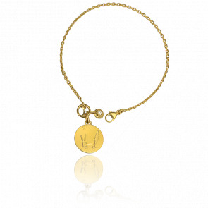 Bracelet Petit Prince et le Renard Or Jaune 18K et Diamant - Monnaie de Paris