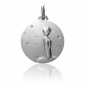 Médaille Petit Prince Sur Sa Planète Argent