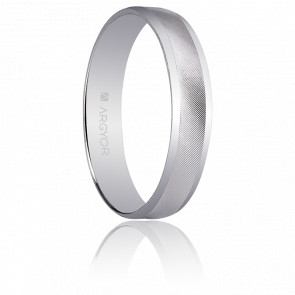 Alliance Cordoue 4 mm Or Blanc 18K