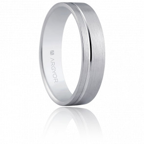 Alliance Oviedo 5 mm Or Blanc 18K