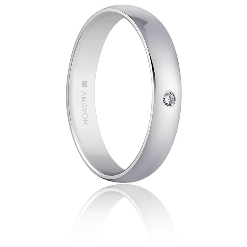 Alliance Carthagène Diamants & Or Blanc 18K