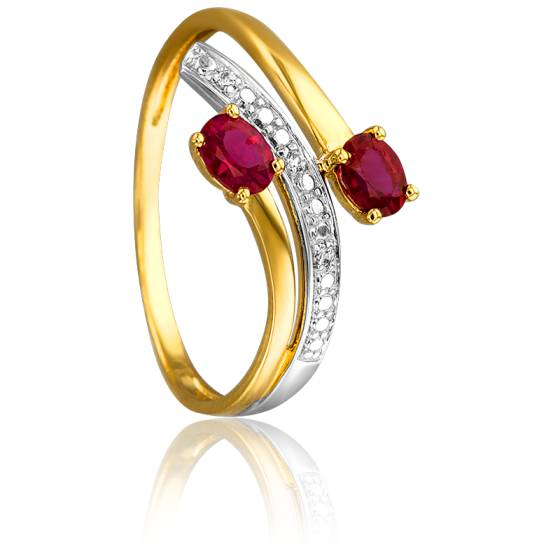 Bague Ione 2 Ors 18K & Rubis