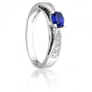 Bague Elégantia Bleue & Diamants