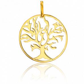 Médaille Arbre de Vie  Vermeil Plaqué Or Jaune