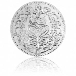 Médaille du Mariage Or Blanc 18k - Monnaie de Paris