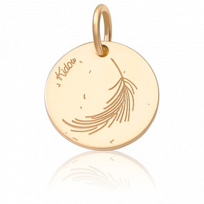 Médaille Plume Or Jaune 18K