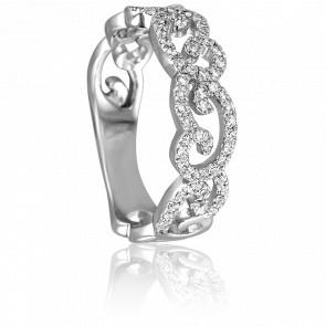 Bague Majestueuse or blanc 18K et diamants - Joelli