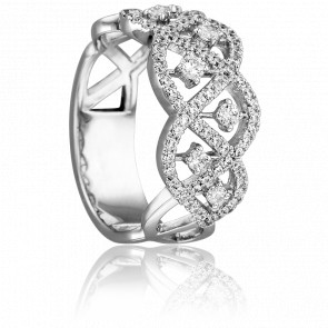 Bague Orithye Or Blanc 18K & Diamants 0,611 ct