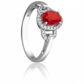 Bague Elégantine Rubis & Diamants
