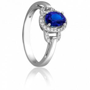 Bague Elégantine Saphir & Diamants