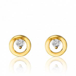 Puces d'oreilles 2 Ors 18 carats et diamant