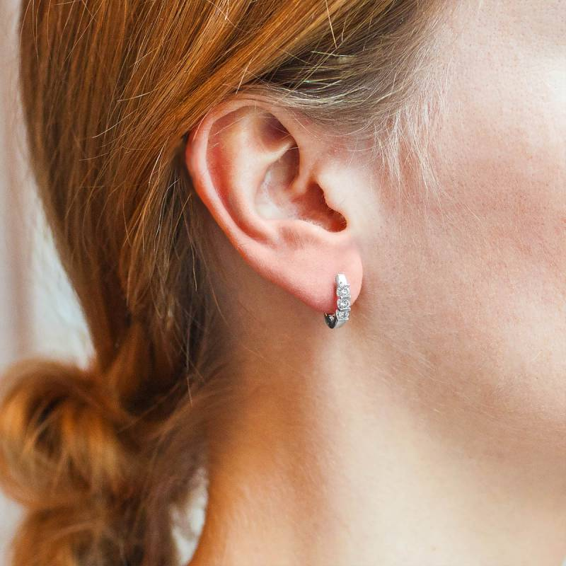 Boucle oreille 3 diamants