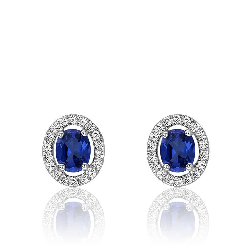Populaire Boucles d'Oreilles Joelli Bleu Sublimé, Boucles d'oreilles en or  CQ19