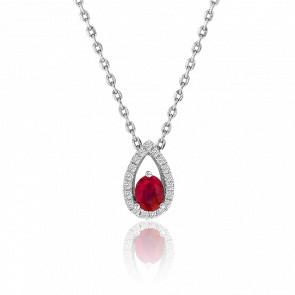 Collier Rouge Diamanté