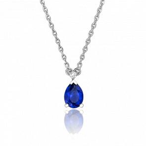 Collier Goutte Bleue & Diamant