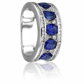 Bague Cupidone Diamants & Saphirs