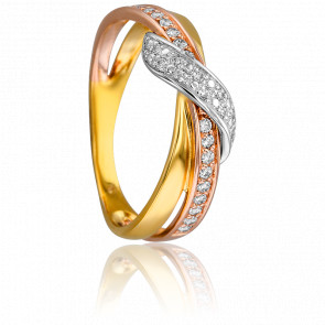 Bague 3 Ors & Diamants 0,192 ct
