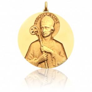 Médaille Saint Guillaume Or Jaune 18K