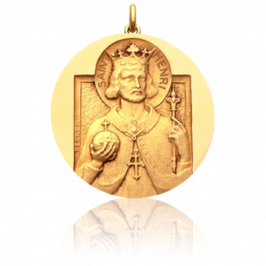 Médaille Saint Henri Or Jaune 18K