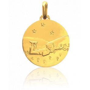 Médaille Petit Prince Couché Dans l'Herbe Or Jaune 18K - Monnaie de Paris