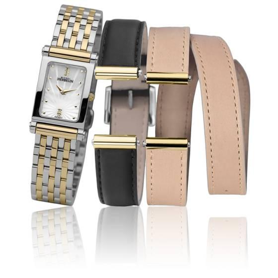 Promotion de ventes rechercher l'original construction rationnelle Antares COF.17048/BT59NB - Coffret bracelets acier, cuir interchangeables -  Ocarat