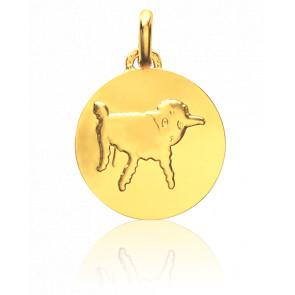 Médaille Petit Prince Dessine Moi Un Mouton Or Jaune 18K