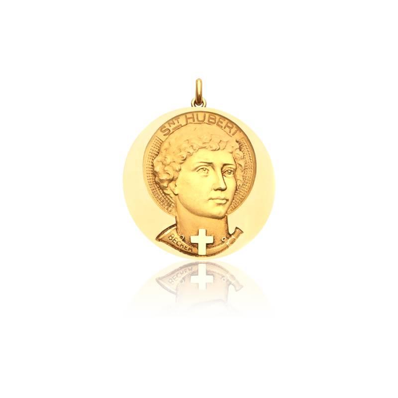 Médaille Saint Hubert Or Jaune 18K