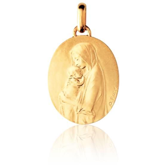 Médaille Vierge à l'Enfant de Roty Or Jaune 18K