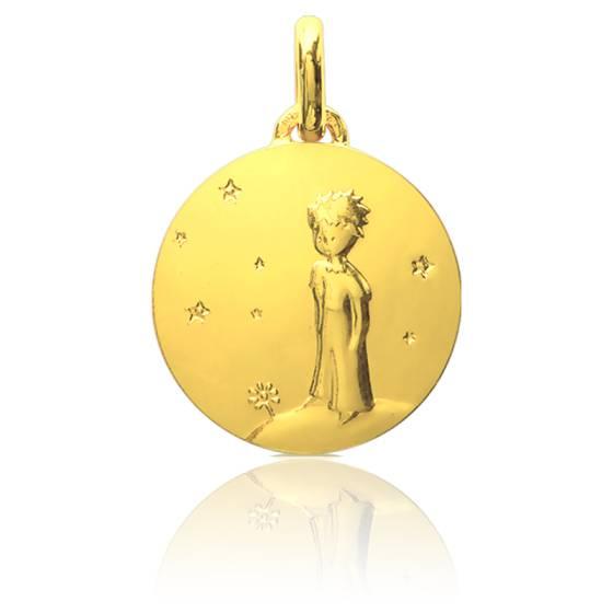 Médaille Petit Prince Sur Sa Planète Or Jaune 18K