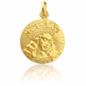 Médaille Vierge de Van Eyck Or Jaune 18K