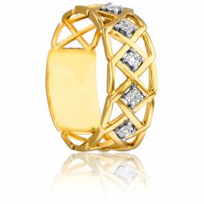Bague Nydia Or Jaune 18K & Diamants 0,02 ct