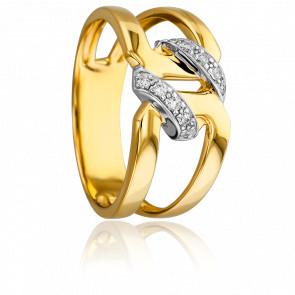 Bague Hécube 2 Ors - 18K & Diamants