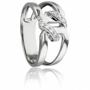 Bague Hécube Or Blanc - 18K & Diamants