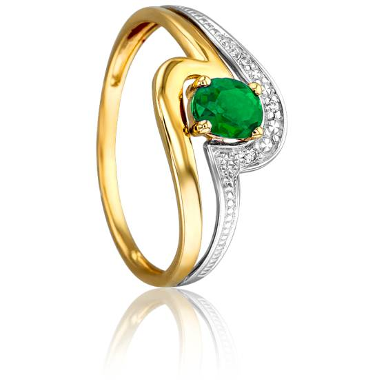 Bague Coronis 2 Ors 18K & Emeraude