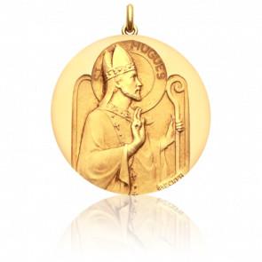 Médaille Saint Hugues Or Jaune 18K