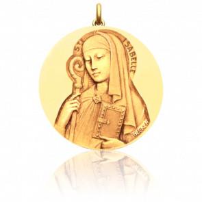 Médaille Sainte Isabelle Or Jaune 18K