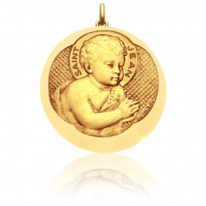 Médaille Saint Jean Or Jaune 18K