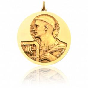 Médaille Saint Laurent Or Jaune 18K - Becker
