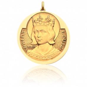 Médaille Saint Louis Or Jaune 18K - Becker